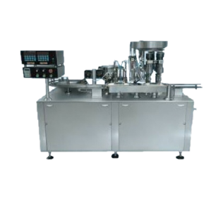 Automatic Linear Four Head Filling, Plugging & Capping Machine