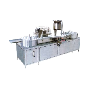 Automatic Linear Six Head Filling, Four Head Plugging & Four Capping Machine